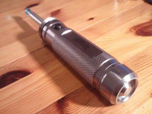 A modified flashlight e-cig wstryder